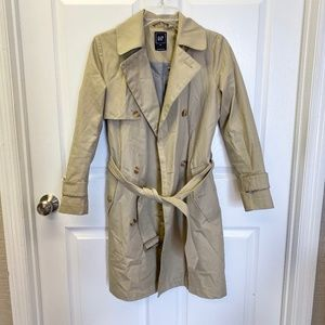 Gap XS double breasted trench coat